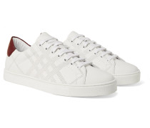 Perforated Leather Sneakers - White
