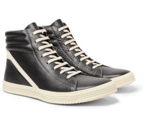 Geothrasher Two-tone Full-grain Leather High-top Sneakers