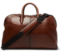 Bowling Gm Leather Holdall - Brown