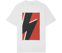 Printed Stretch-cotton Jersey T-shirt