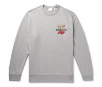 Logo-Detailed Mélange Loopback Cotton-Jersey Sweatshirt