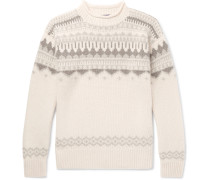 Fair Isle Cashmere And Wool-blend Sweater - Cream