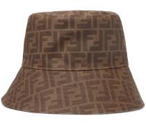 Logo-Jacquard Coated-Canvas Bucket Hat