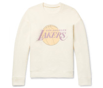 + Nba Los Angeles Lakers Printed Brushed-cashmere Sweatshirt