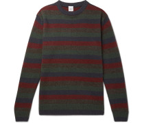 Slim-fit Striped Yak And Wool-blend Sweater - Multi