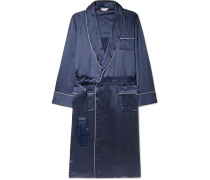 Bailey Piped Silk Robe