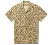 Wallace & Barnes Slim-Fit Camp-Collar Printed Cotton-Jacquard Shirt