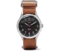 Waterbury United Stainless Steel And Stonewashed-leather Watch - Tan