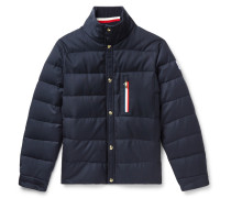 Wool-canvas Quilted Down Jacket