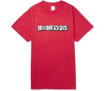 Quarter Mile Garment-dyed Logo-print Cotton-jersey T-shirt