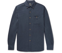 Button-Down Collar Cotton and Wool-Blend Flannel Shirt