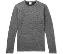 Reversible Brushed Cotton-blend T-shirt