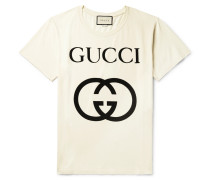 Oversized Logo-print Cotton-jersey T-shirt - Ecru