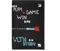 Valentino Garavani Embroidered Nylon Bifold Wallet - Black