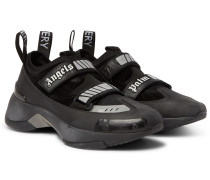 Recovery Leather, Suede And Mesh Sneakers