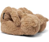 Hug Me Bear Cotton, Alpaca and Mohair-Blend Slippers