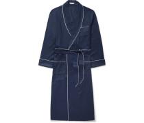 Lombard Piped Cotton-jacquard Robe