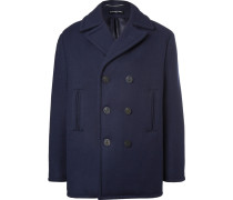 Double-breasted Padded Virgin Wool Peacoat