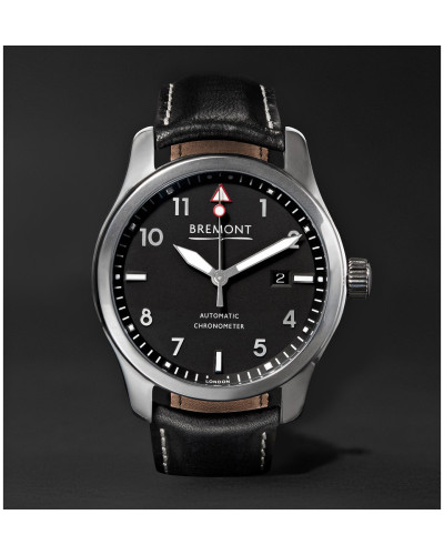 Solo/pb Automatic 43mm Stainless Steel And Leather Watch - Black