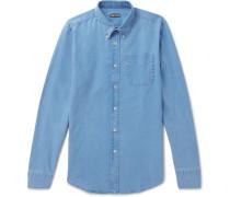 Button-down Collar Linen And Cotton-blend Chambray Shirt