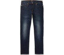 Slim-fit Tapered Stretch-denim Jeans - Blue