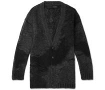 Oversized Patchwork Mohair-Blend Cardigan