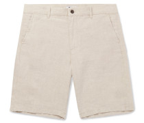 Crown Slim-fit Linen Shorts