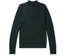 Slim-fit Merino Wool, Silk And Cashmere-blend Mock-neck Sweater