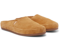 Suede Backless Slippers
