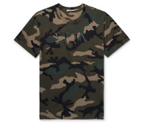 Camouflage-print Cotton-jersey T-shirt - Army green