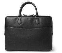 Boston Full-grain Leather Briefcase - Black