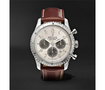 Navitimer 8 B01 Chronograph 43mm Stainless Steel And Leather Watch