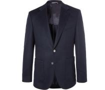 Navy Janson Slim-fit Cashmere Blazer