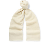 Fringed Cashmere-twill Scarf