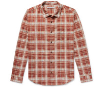 Highline Checked Brushed Cotton And Linen-blend Flannel Shirt