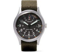 Camper Mk1 Stainless Steel And Nylon-webbing Watch - Black