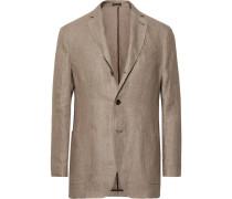 Unstructured Linen Blazer