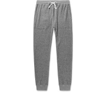 Tapered Loopback Cotton-jersey Sweatpants - Gray