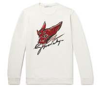 Printed Loopback Cotton-jersey Sweatshirt - Off-white