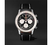 Navitimer 01 Chronograph 43mm Stainless Steel And Leather Watch