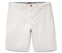Stanton Slim-fit Stretch-cotton Twill Shorts