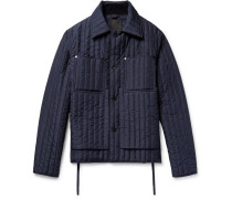 Quilted Shell Jacket - Navy