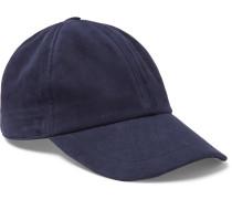 Nubuck Baseball Cap - Navy