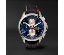 Clifton Club Shelby Cobra Chronograph 44mm Stainless Steel And Leather Watch - Navy