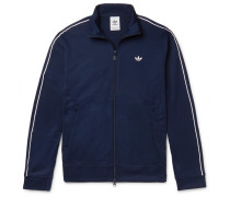 Arena Piped Textured-jersey Track Jacket - Navy
