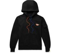 + Ader Error Oversized Printed Cotton-blend Jersey Zip-up Hoodie - Black
