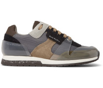 Jimmy Mesh, Suede And Pvc Sneakers