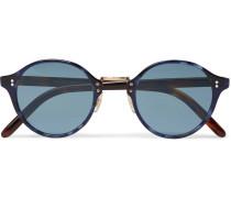 Op-1955 Round-frame Acetate Photochromic Sunglasses - Blue