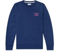 Bowery Logo-Embroidered Loopback Cotton-Jersey Sweatshirt