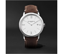 My Classima 40mm Stainless Steel And Leather Watch - White